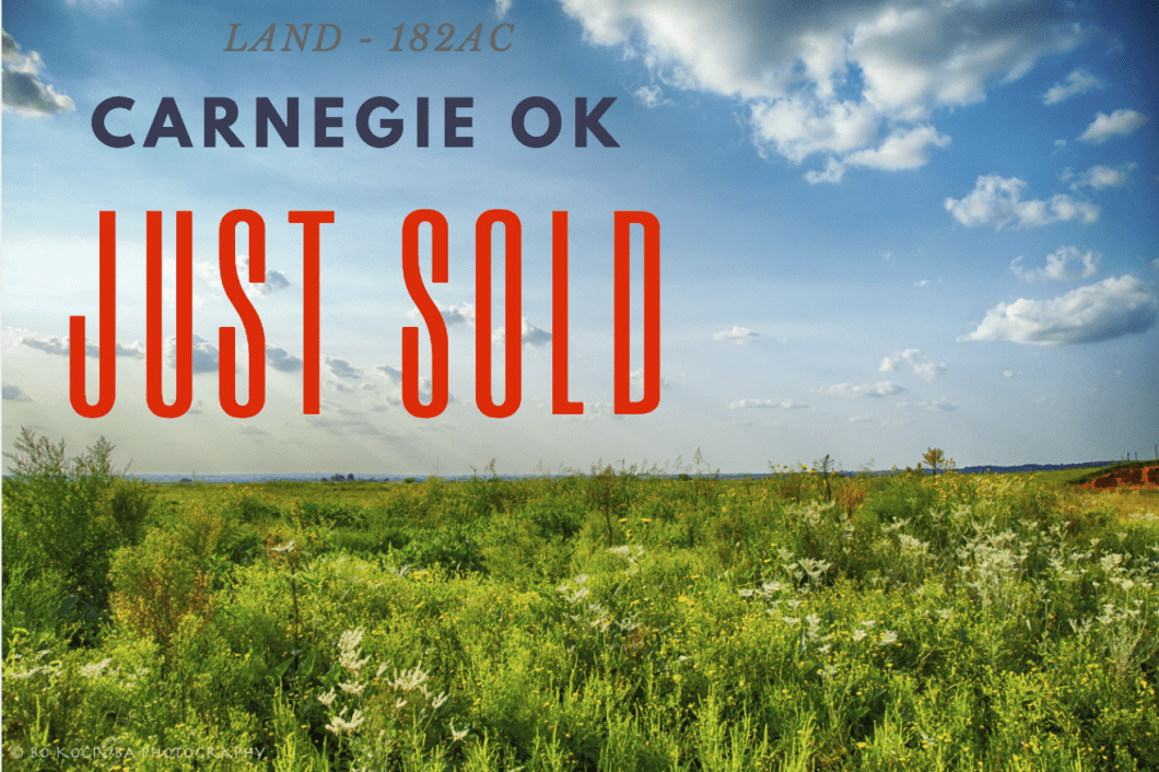 LAND FOR SALE IN OKLAHOMA - 182AC CADDO COUNTY