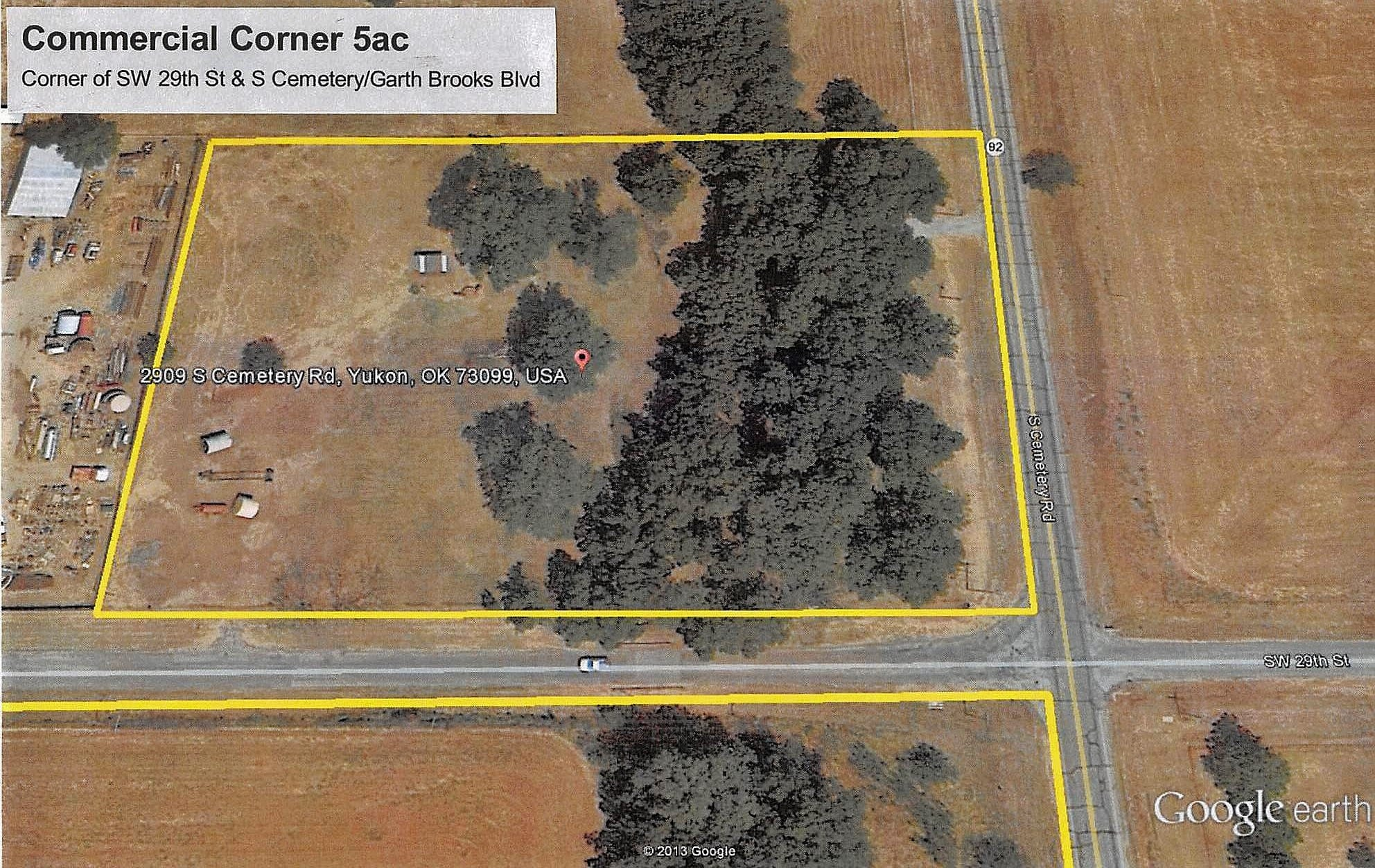 5AC PRIME COMMERCIAL CORNER - GARTH BROOKS BLVD & SW 29TH YUKON OK