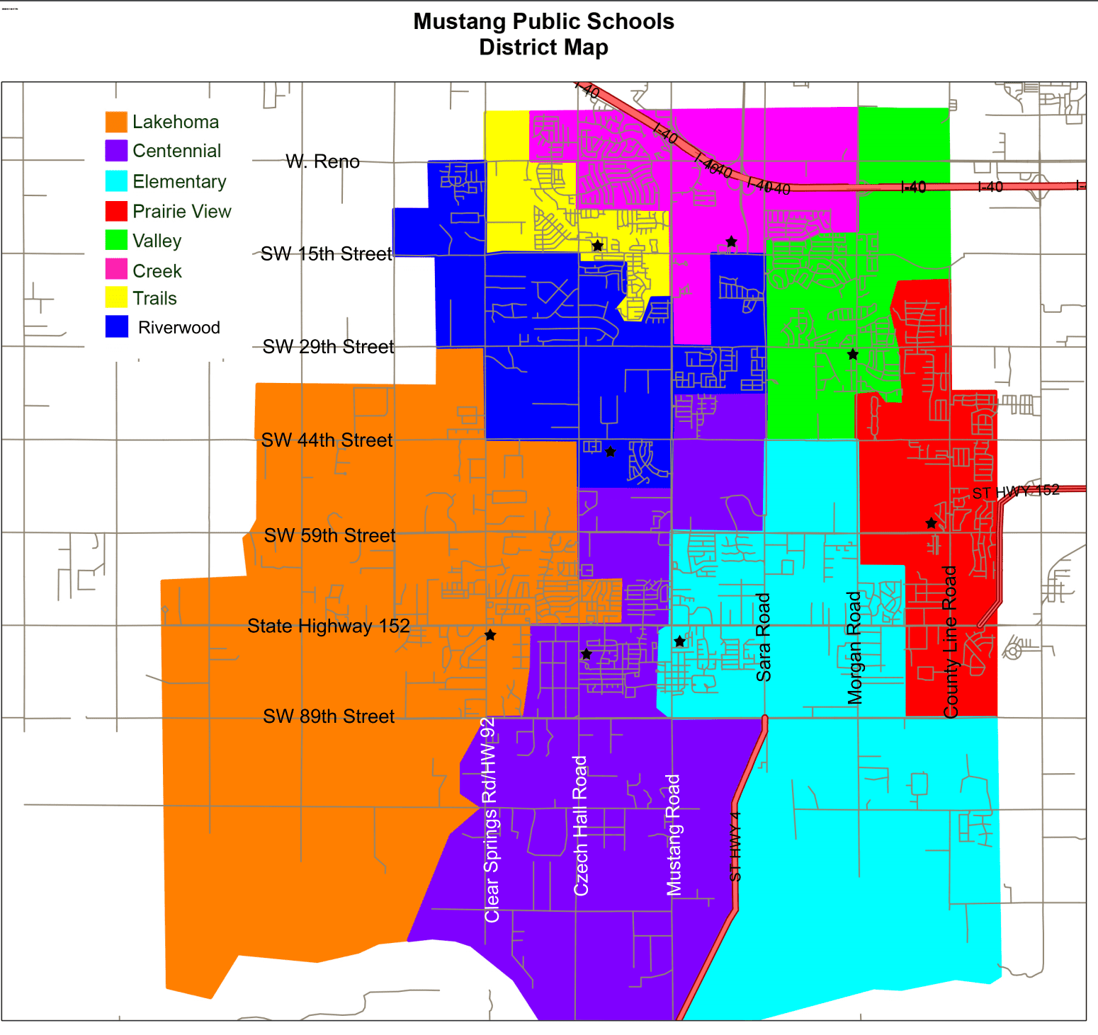 MUSTANG OK District Map Mustang Public Schools