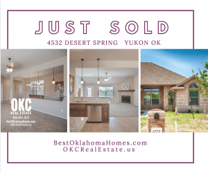 JUST SOLD - 4532 DESERT SPRING - NEW HOME IN YUKON OK