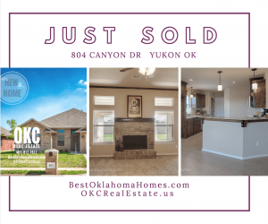 JUST SOLD-804 CANYON DR NEW HOME IN YUKON OK